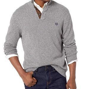 CHAPS Men's Classic-Fit Twist Button Mock Sweater